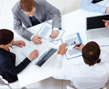 top view co workers planning strategy 1098 2959