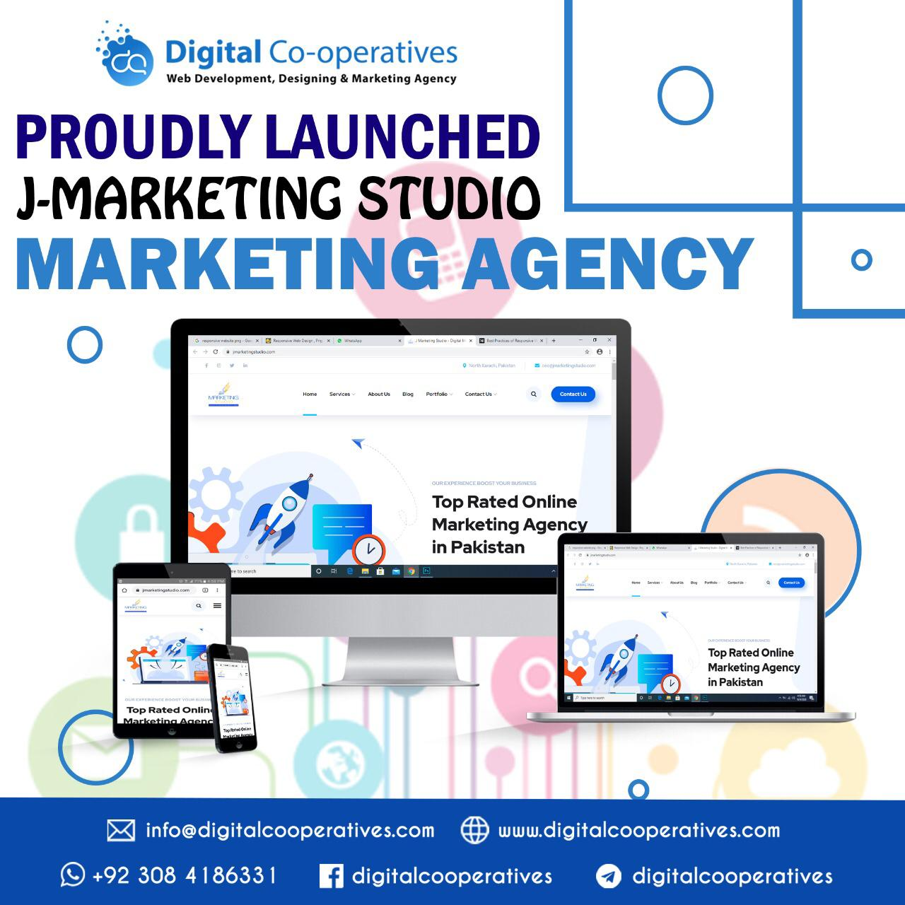 J Marketing Studio Website Developing Agency
