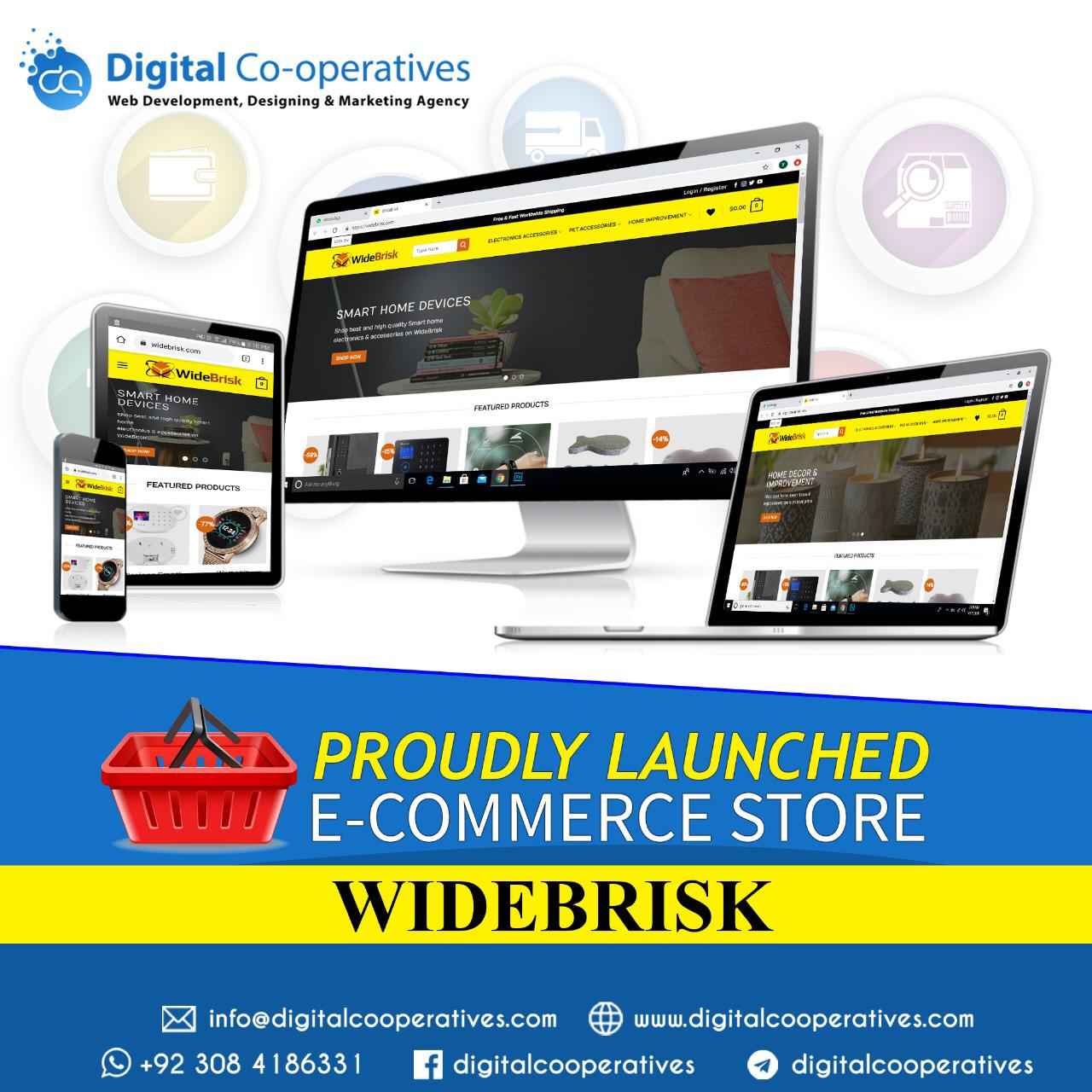 Wide Brisk E Commerce Website Designer Builder Developer